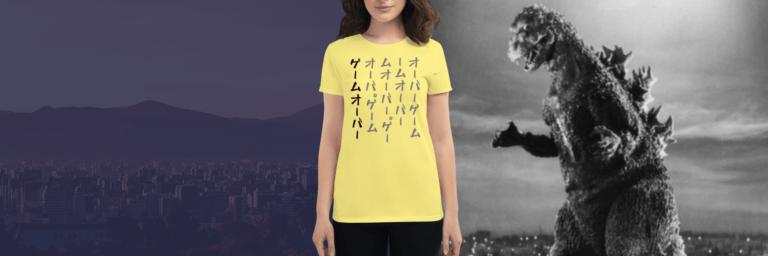 Japanese Writing Clothing Godzilla Women